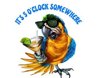5 O Clock Somewhere Etsy