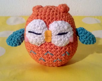 Amigurumi Little Orange and blue Owl