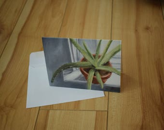 Aloe Plant - Note Card