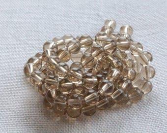 30 designs 6mm smoky gray glass beads