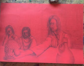 The Last Supper - original pencil drawing