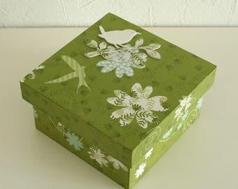 "Secret box wooden ""Spring Green"""