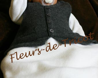 Swaddle baby Blaser white and grey knit