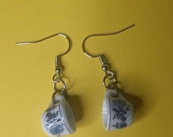 Teacup earrings