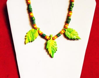 Fimo necklace * Natural Mystik *.