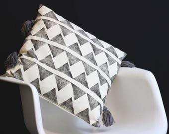 Hand printed cushion cover <3