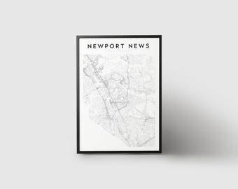 Newport News Map Print