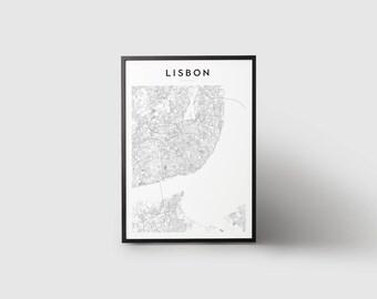 Lisbon Map Print