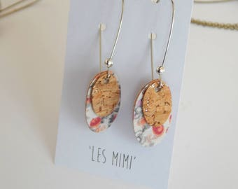 """These Earrings from the collection """"mimi"""" Red & Grey"""