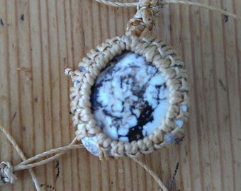 Merlinite Gemstone Macrame Necklace