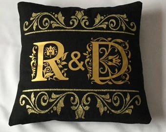 Ultimate Luxury Initial  Cotton Canvas Cushion