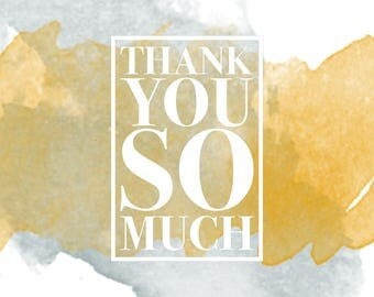 Water Color Thank You Card