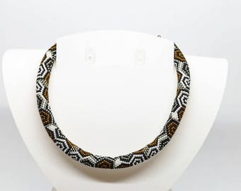 Miyuki 11/0 seed bead spiral necklace