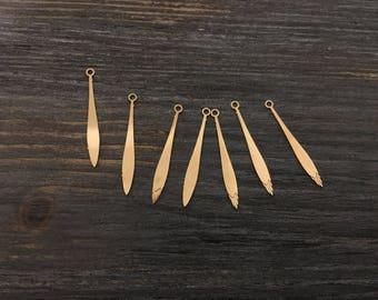 30 charms ties fine 24x2.70mm Golden jewellery designs