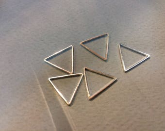 20 spacer triangle 14mm silver jewelry designs