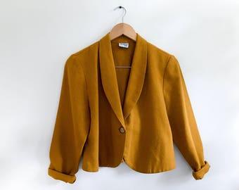 vintage mustard BEDFORD FAIR blazer