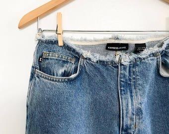 vintage 90's fringe top & bottom retro jeans - size 5/6