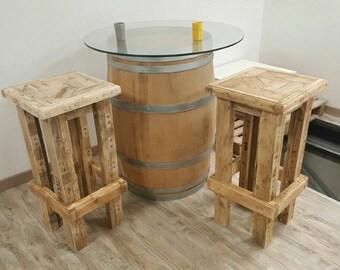 tabouret de bar en bois de palette esprit r cup 39. Black Bedroom Furniture Sets. Home Design Ideas