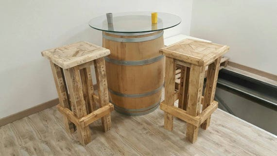 tabouret de bar en bois recycl palette. Black Bedroom Furniture Sets. Home Design Ideas