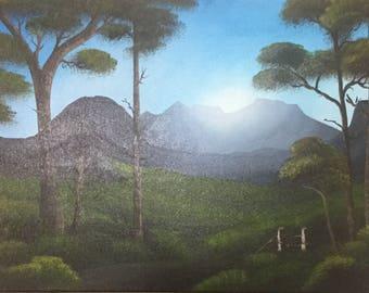 Mountain Sunrise Oil Painting