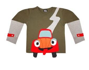 T-shirt P' little car long sleeves
