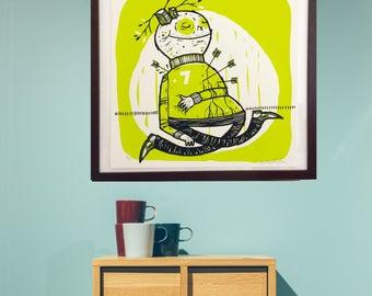 Silkscreen Print by artist Michael Sieben for the Lab101 Gallery