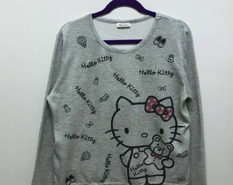 Rare!!! Hello Kitty Pullover Spellout Big Picture Night Wear