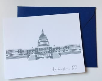Washington DC Greeting Card US Capitol A2