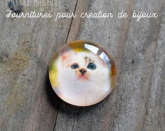 """Fancy 25 mm cabochon * craftsmanship"" cat Jocoeur"