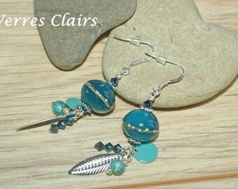 """Atlantis"" blue earrings"