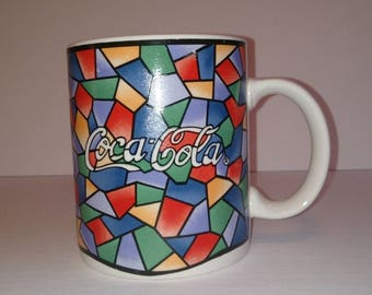 Gibson Coca Cola Mug Cup Coke Rainbow Stained Glass LOOK SODA ADVERTISING