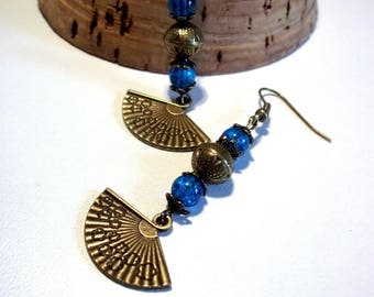 Bohemian, fan earrings