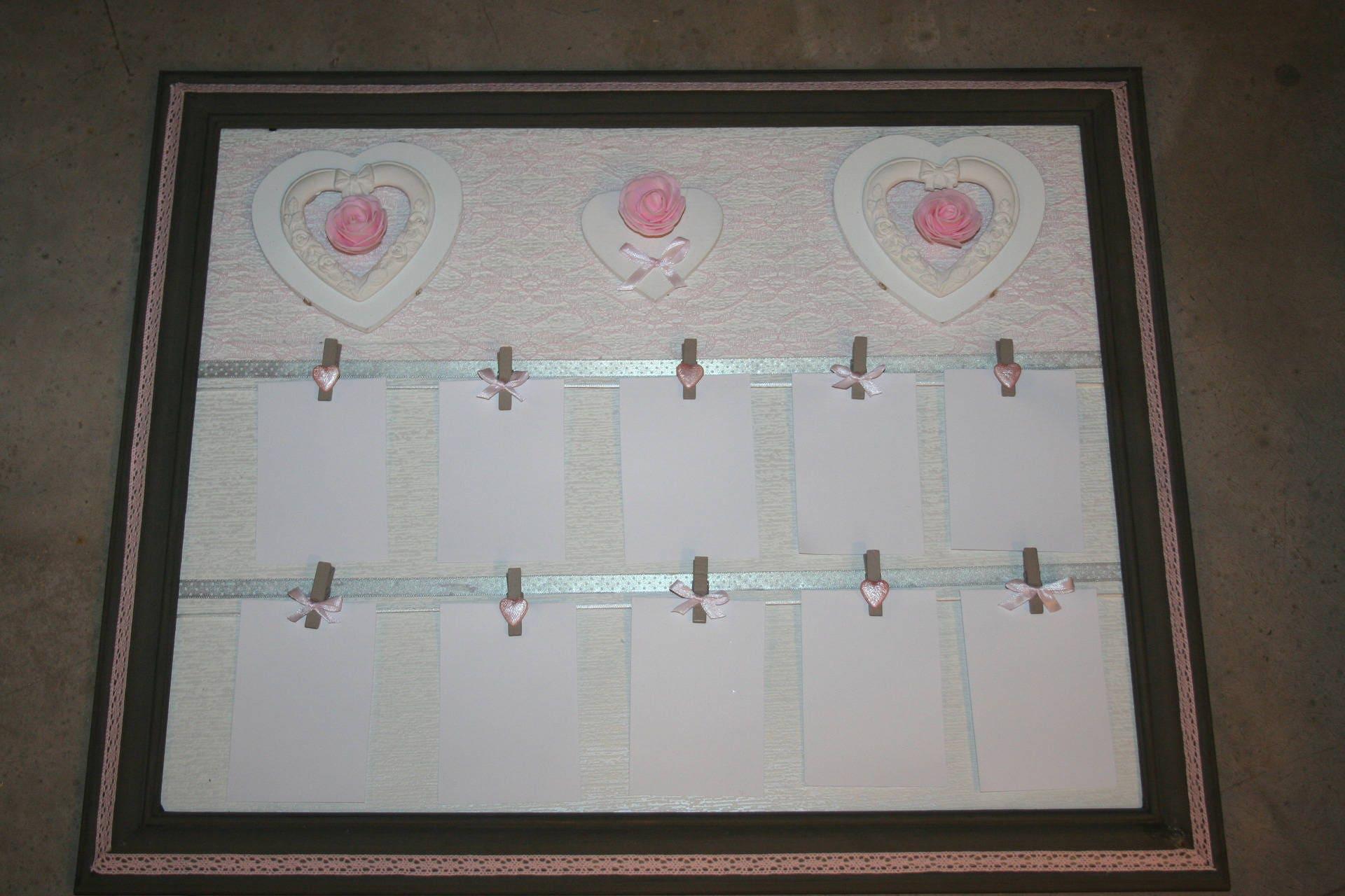 plan de table mariage pele mele photos gris taupe rose poudr. Black Bedroom Furniture Sets. Home Design Ideas