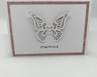 (Butterfly) thank you card