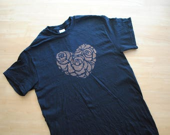 St. Therese Rose Heart Bleach Dyed Shirt
