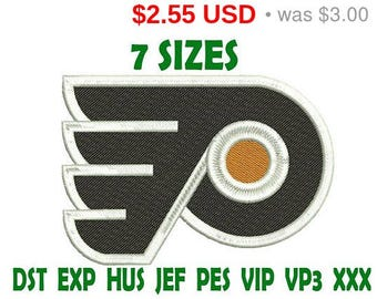 sale 15 philadelphia flyers embroidery design logo instant download machine embroidery pattern