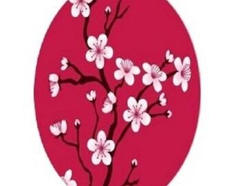 cherry blossoms, 18x25mm