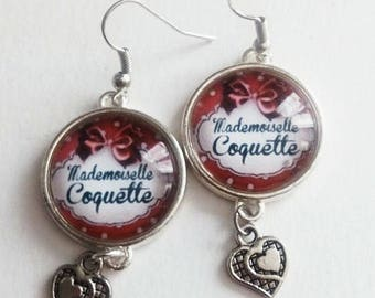 "Earrings ""mademoiselle coquette"""