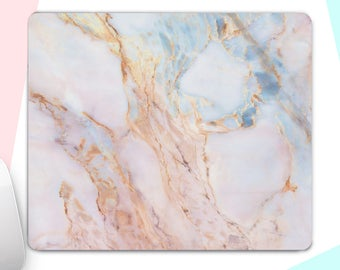 Pink Marble Computer Mouse Pads Stone Mouse Pads Mouse Pads Marble  Mouse Pad Mouse Pad Rectangle Mouse Pad Office Desk Accesories Gift m22