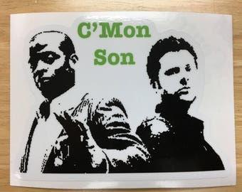 Psych C'mon Son Decal / Sticker