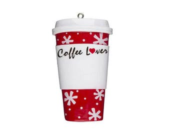 Personalized Christmas Coffee Ornament