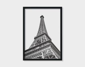 A4, Paris print, Paris wall art, Eiffel tower, Wall art, Travel print, Monochrome print, Prints wall art