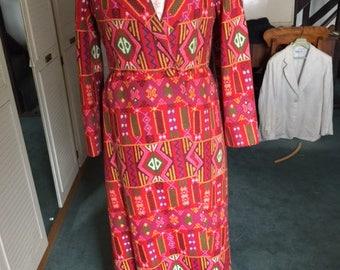 Sybil Zelker at Polly Peck coat dress 1960s vintage