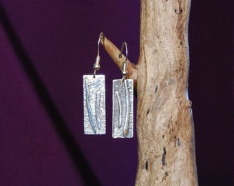"Earrings original and handcrafted silver 9.25 ""Chinese elasticated"""