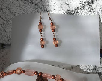 Copper Beaded Bracelet Set