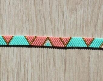 Gold Miyuki bead weaving bracelet handmade