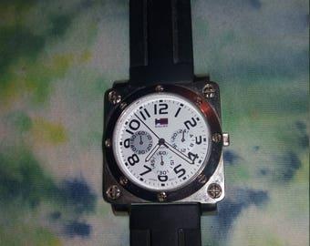Vintage mid-1980s men's Bugle Boy wristwatch