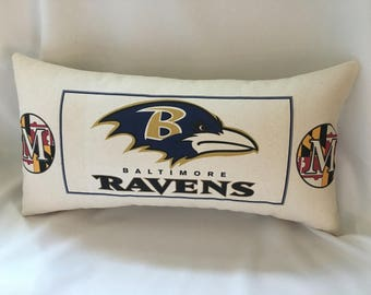 Baltimore Ravens & Baltimore Orioles All In One Pillow