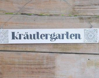 """Decorative Wood sign """"herb garden"""""""