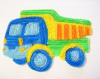 (Pipe cleaner) chenille yarn painting dump truck